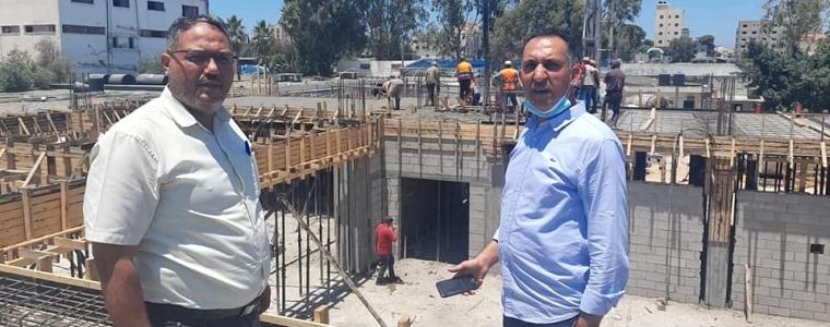 الإدارة العامة للتخطيط والتعاون الدولي تقوم بتنفيذ زيارة ميدانية لموقع انشاء مركز تدريب غزة.