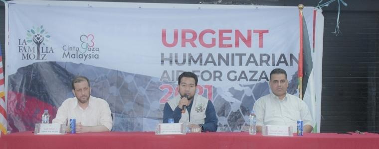 التنمية الاجتماعية بالتعاون مع مؤسسة أحباء ماليزيا توزع مساعدات مالية على متضرري الحرب الأخيرة .