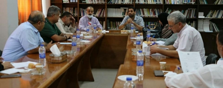 وزارتي التنمية الاجتماعية و الصحة تعقدان اجتماعاً مع مؤسسات التأهيل في مقر شبكة المنظمات الأهلية