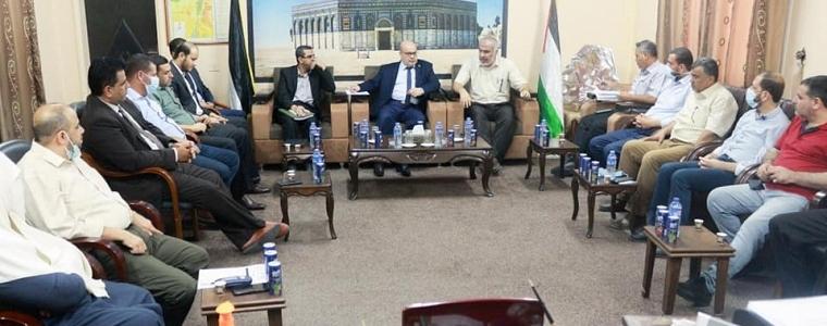 رئيس لجنة المتابعة الحكومية عصام الدعليس في زيارة تعايشية لوزارة التنمية الاجتماعية.